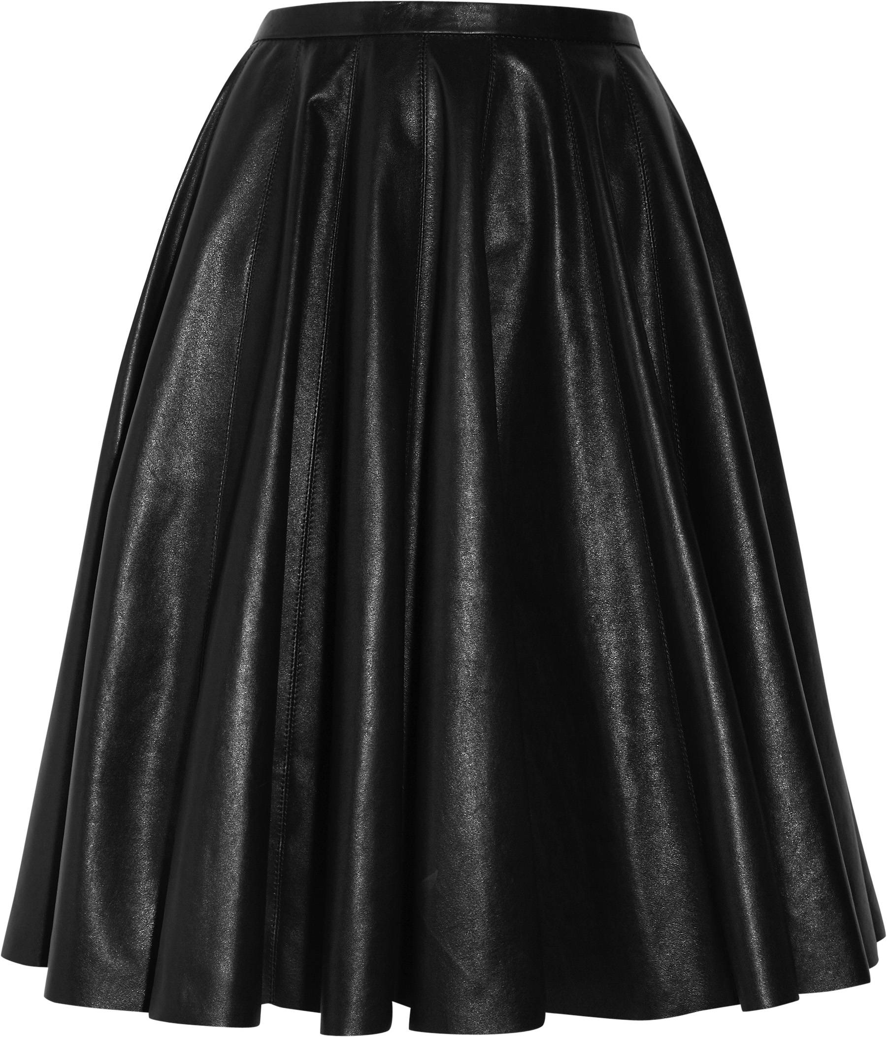322569_McQ Alexander McQueen- Flat Pleat Leather Skirt - NET-A-PORTER