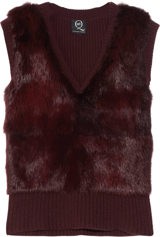 322571_McQ Alexander McQueen- Rabbit Fur Vest NET-A-PORTER