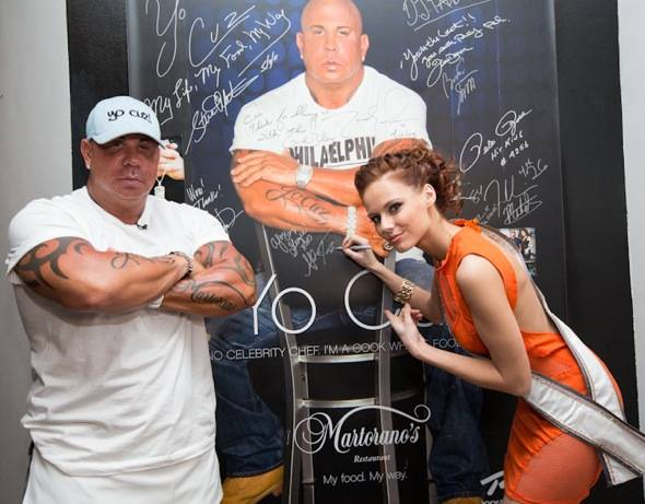 Steve Martorano and Miss USA 2011 Alyssa Campanella