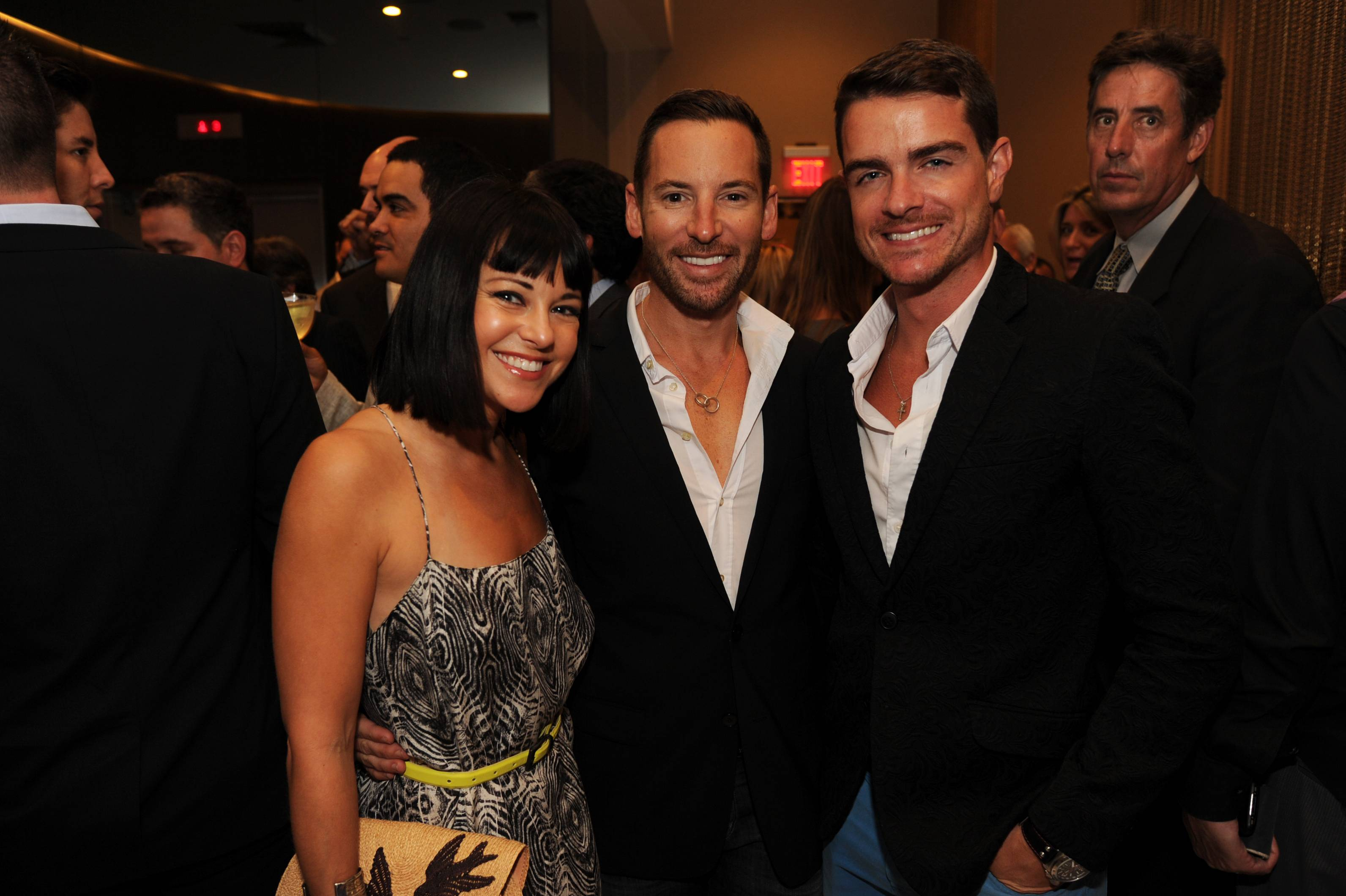 Anne Owen, Edward de Valle and Mathew Parento at the Paramount Bay Grand Opening