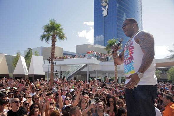 Busta Rhymes performs at Palms Pool & Bungalows in Las Vegas 5.26.12