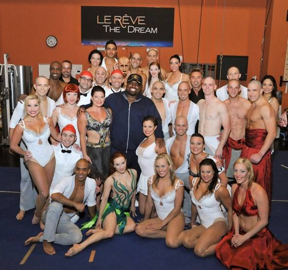 Cee Lo Green and the cast of Le Reve – The Dream at Wynn Las Vegas_5-21-12