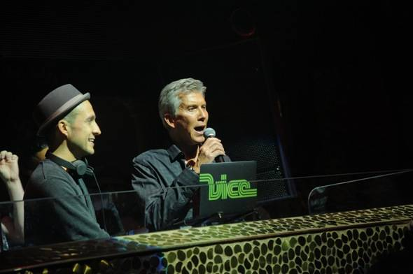DJ Vice and Michael Buffer at TAO