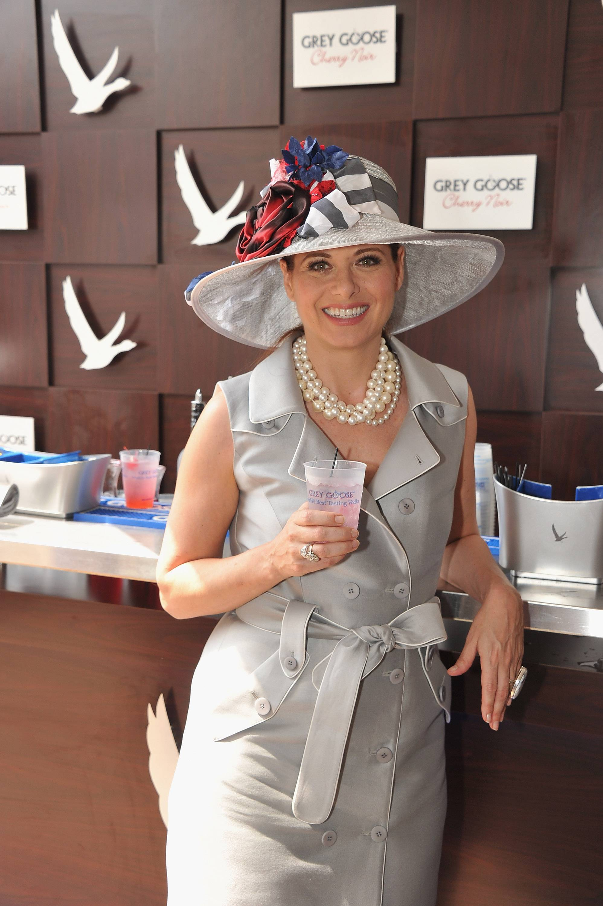 Debra Messing wears GREY GOOSE Cherry Noir Vodka Inspired Hat at the 2012 Kentucky Derby