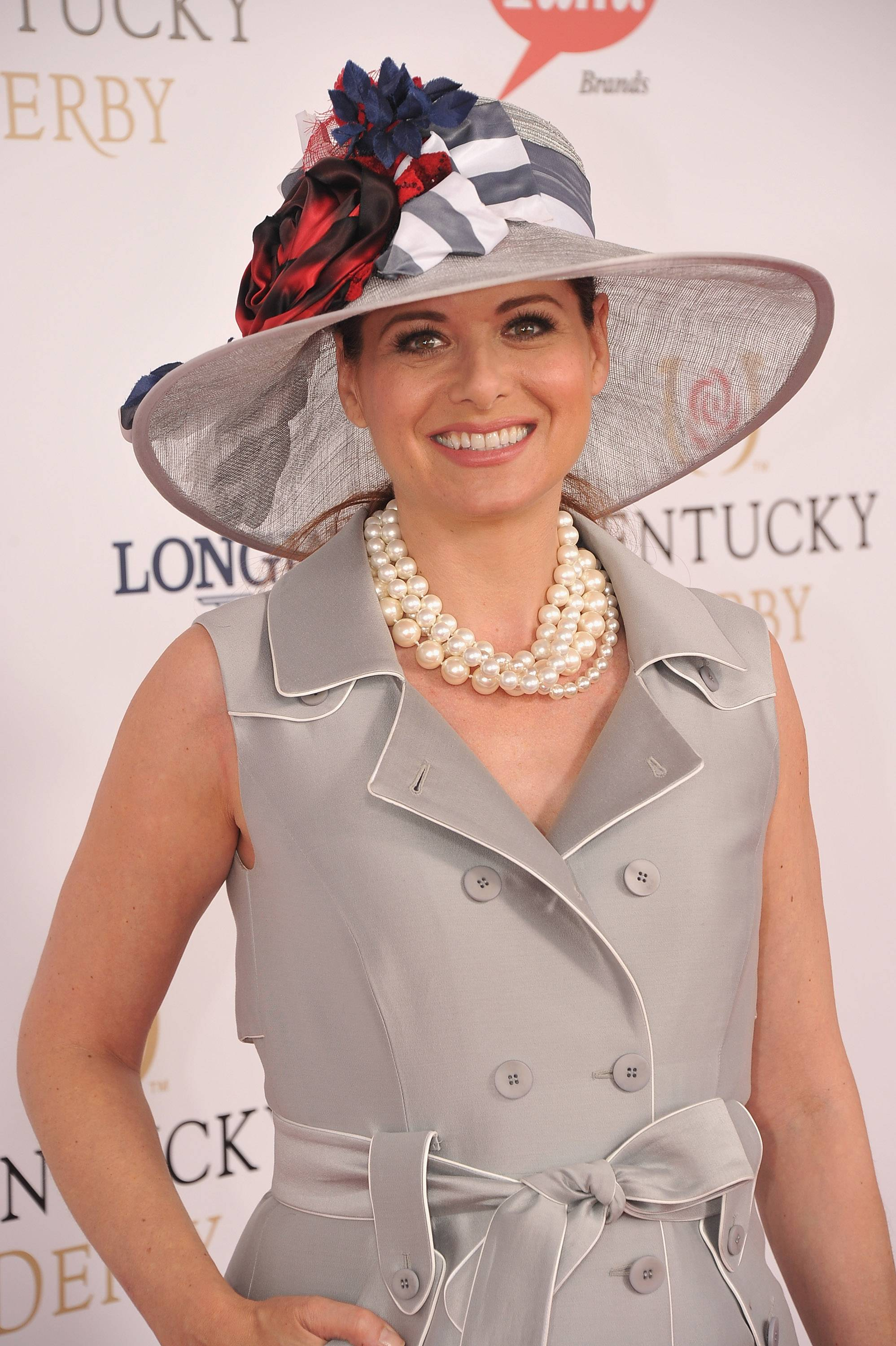 Debra Messing wears GREY GOOSE Cherry Noir Vodka Inspired Hat at the 2012 Kentucky Derby6