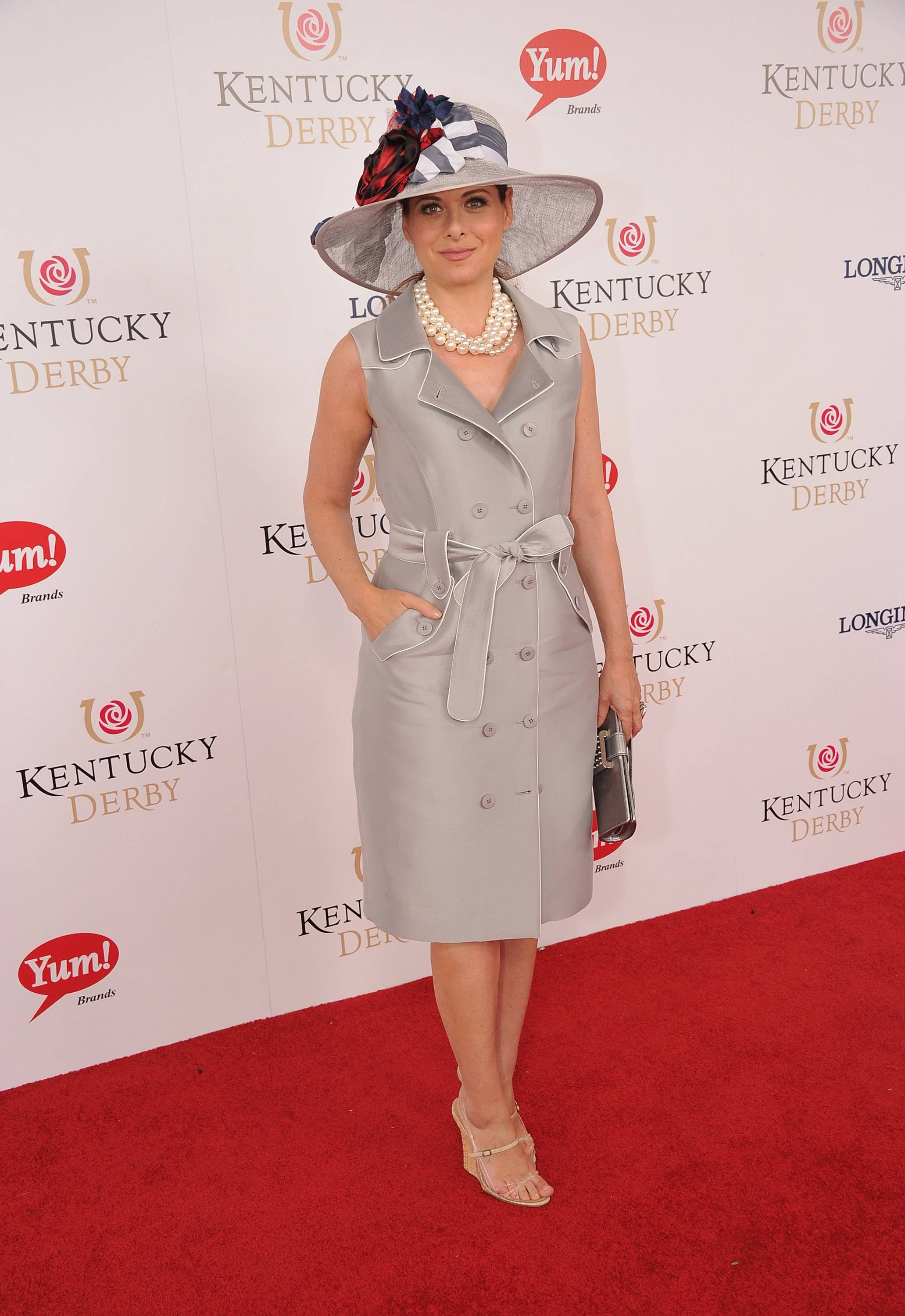 Debra Messing wears GREY GOOSE Cherry Noir Vodka Inspired Hat at the 2012 Kentucky Derby7