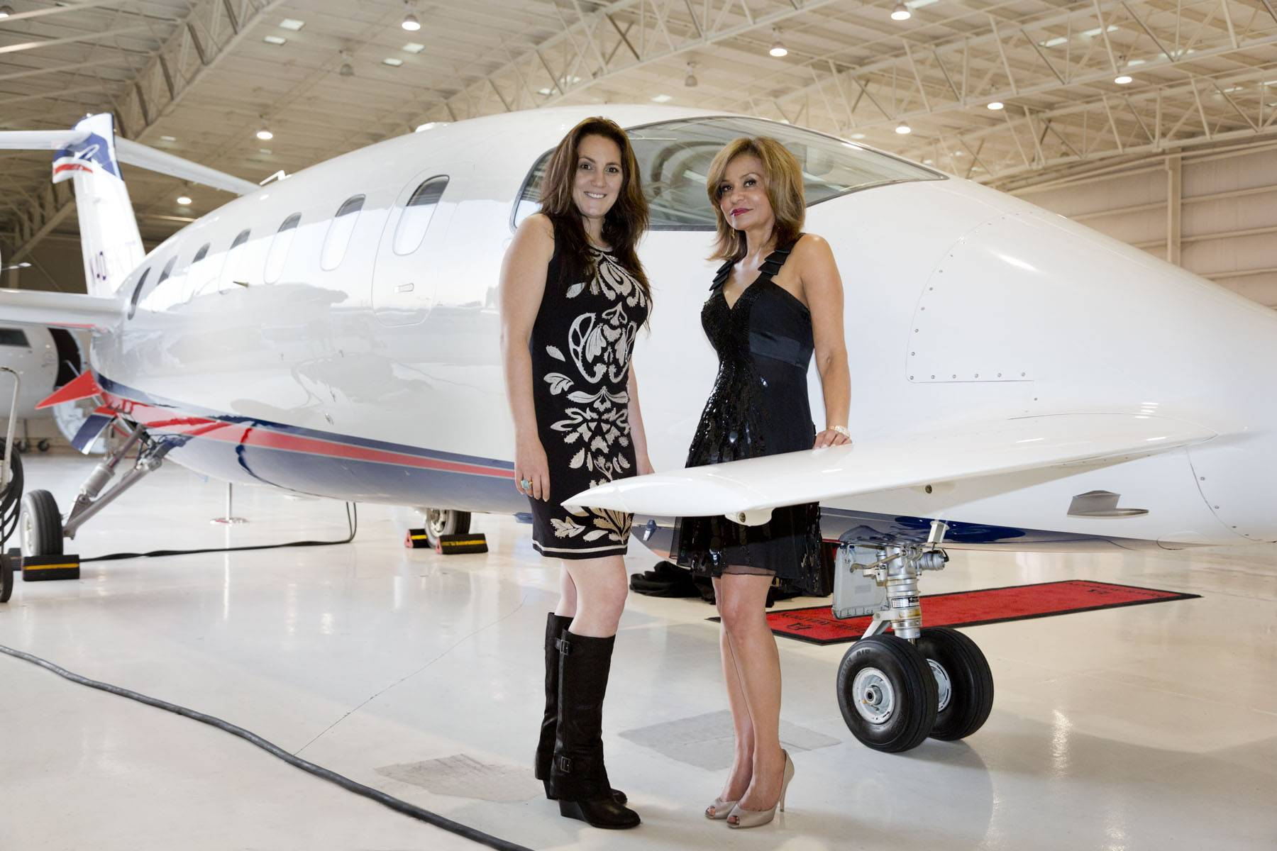 Elite Aviation: Passport to Luxury Event: l. to r., Daniella Di