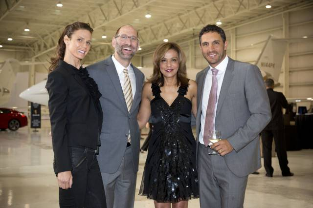 Amy Rose, Billy Rose, President and CEO of Elite Aviation, Chris Holifield and Mauricio Umansky