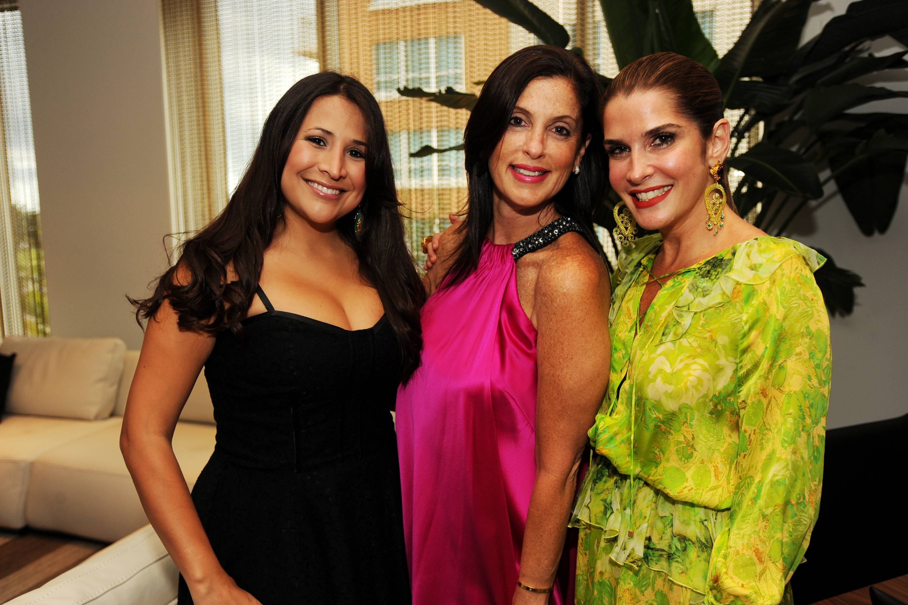 Elizabeth Garcia, Andrea Greenberg and Isabella Holguin at the Paramount Bay Grand Opening