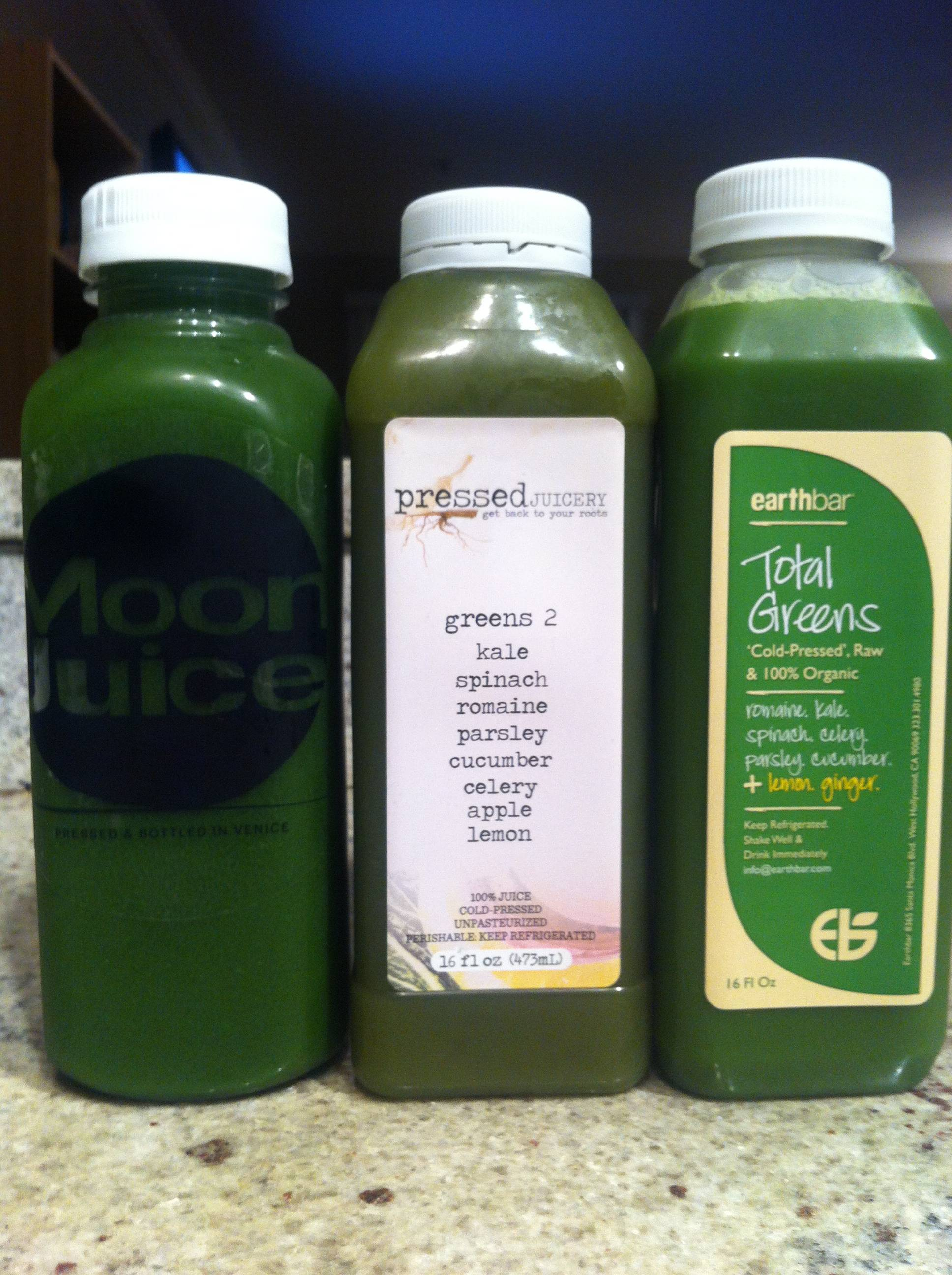Green Juice Options in Los Angeles