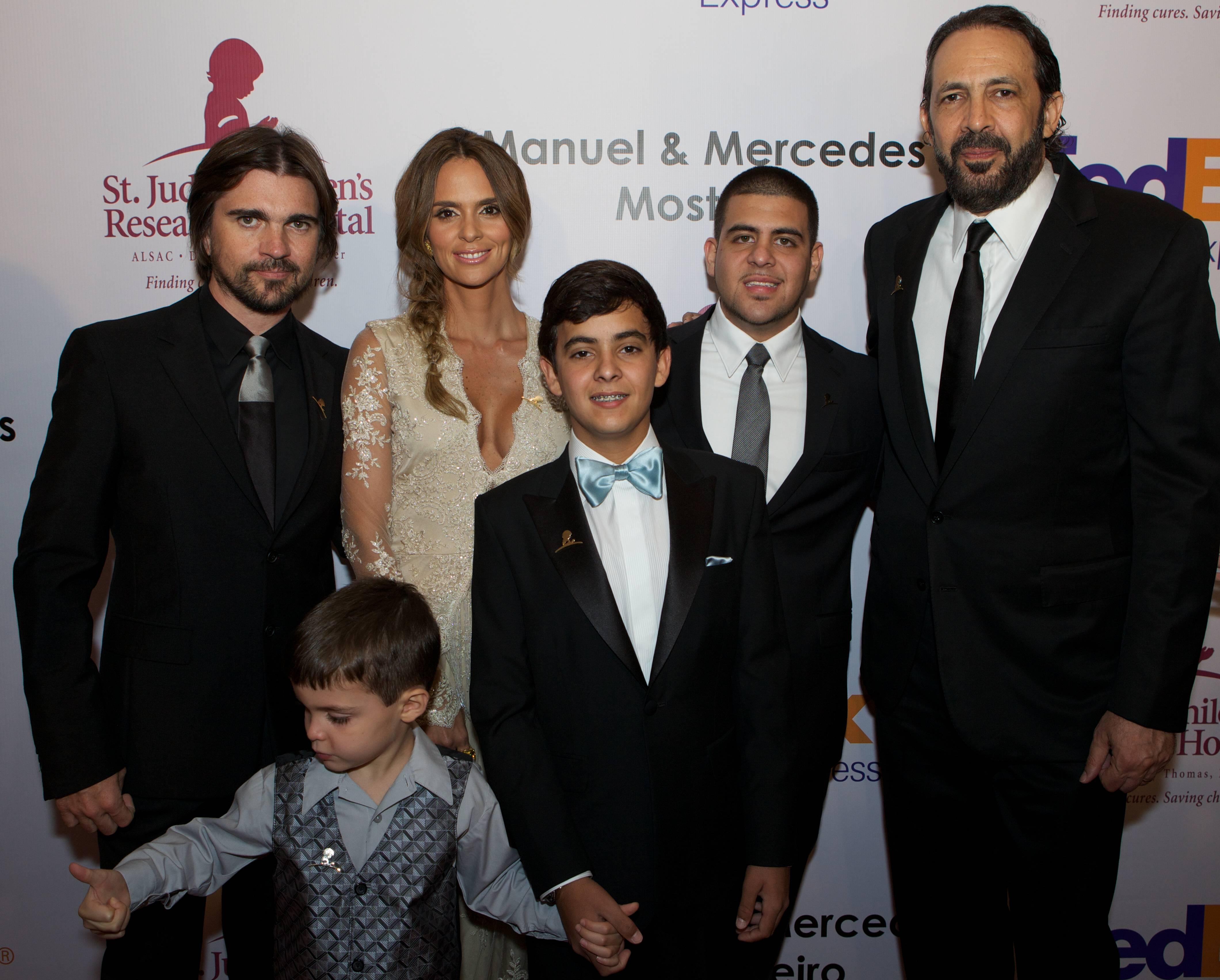 Juanes, Karen Martinez, Juan Luis Guerra , St. Jude Patients Victor, Stephan and Carlos