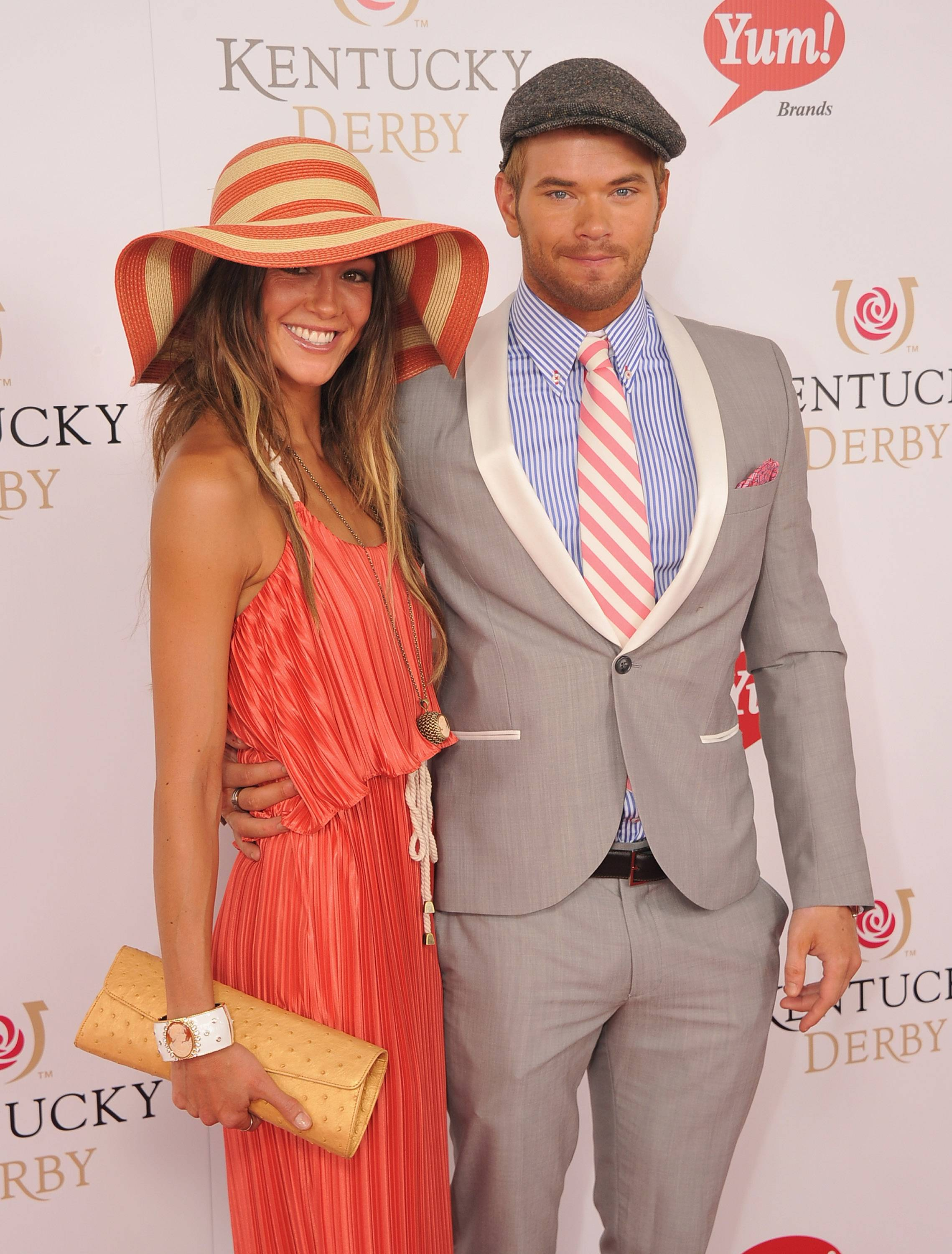 Kellan Lutz and Sharni Vinson at the 138th Running of the Kentucky Derby4.