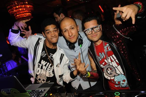 Redfoo, of the music duo LMFAO and the Party Rock crew at LAVO N