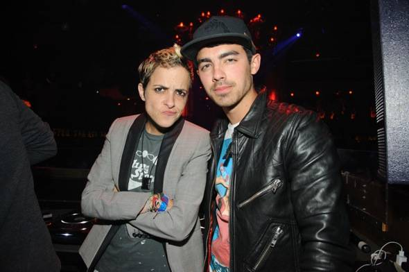 Samantha Ronson and Joe Jonas at TAO