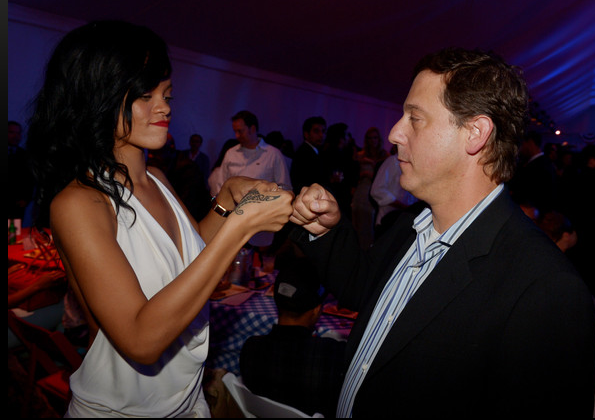 Rihanna (L) and Adam Fogelson, Chairman, Universal Pictures