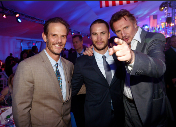 Producer/director Peter Berg, actors Taylor Kitsch and Liam Neeson