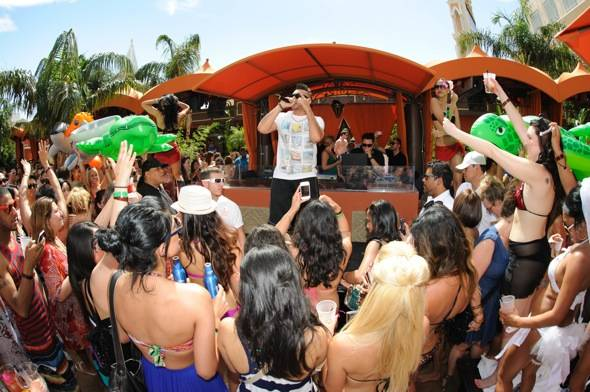 Artist, Sean Paul, performs at TAO Beach