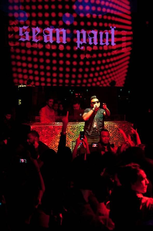 Performing artist, Sean paul, performs at TAO