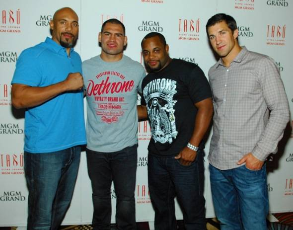 Tabú - Lavar Johnson, Cain Velasquez, Daniel Cormier and Luke Rockhold on Carpet - 5.26.12