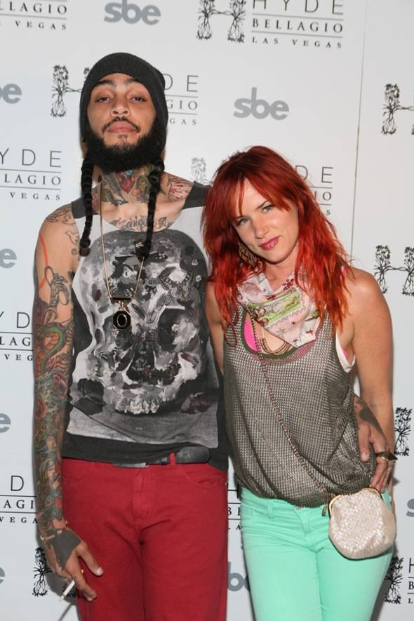 Travie McCoy and Juliette Lewis on red carpet, Hyde Bellagio, Las Vegas, 5.27.12