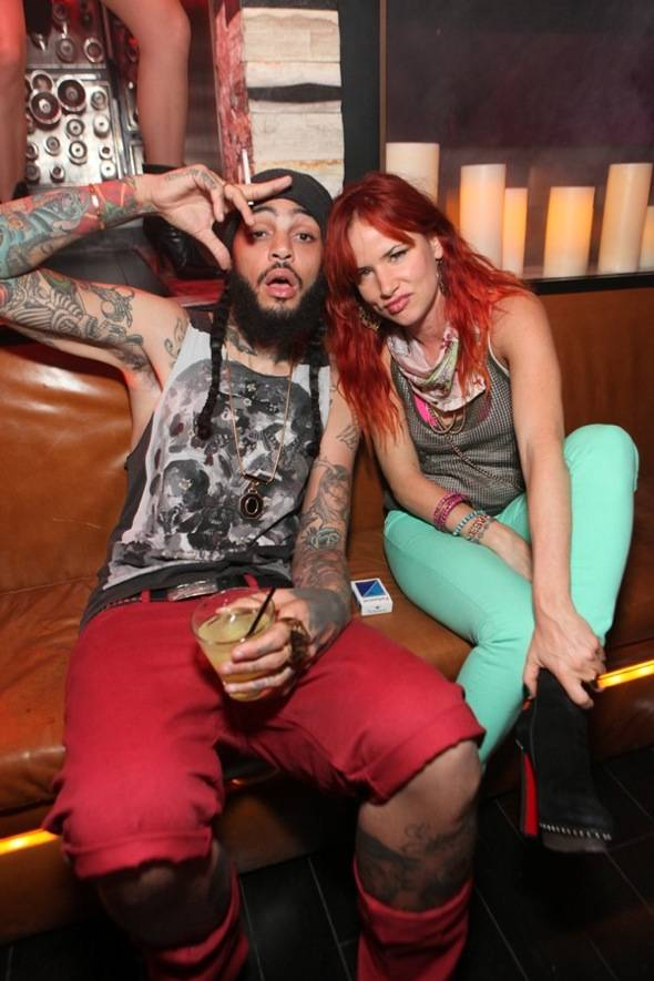 Travie McCoy and Juliette Lewis partying at Hyde Bellagio, Las Vegas, 5.27.12