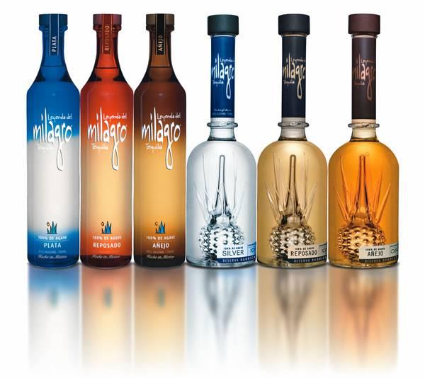 Milagro Tequila Bottles