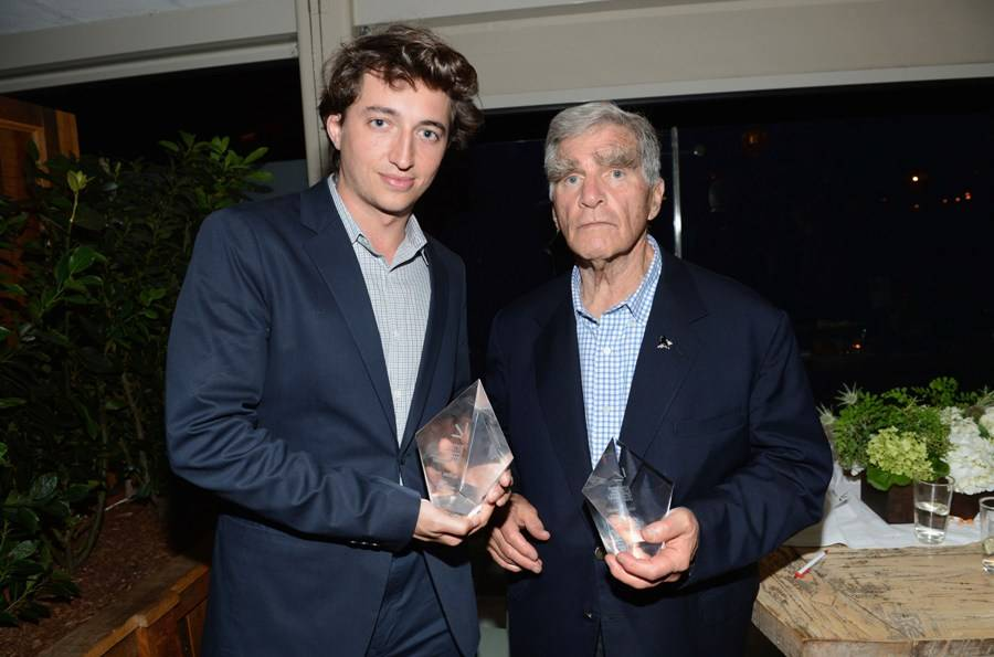Honorees George Gund and Benh Zeitlin at the Sundance Institute Benefit presented by Tiffany & Co. in Los Angeles/Getty Images