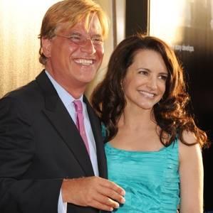 Aaron Sorkin and Kristin Davis