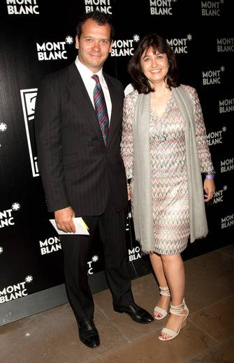 Philip Courtney of Urban Arts Partnership and President and VP of Marketing at Montblanc Atissa Tadjadod attend Montblanc Presents The 24-hour-plays