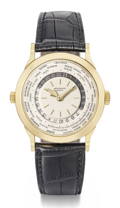 2568_97_Patek Philippe – An Important and Rare 18k Gold Dual Crown World-Time Wristwatch