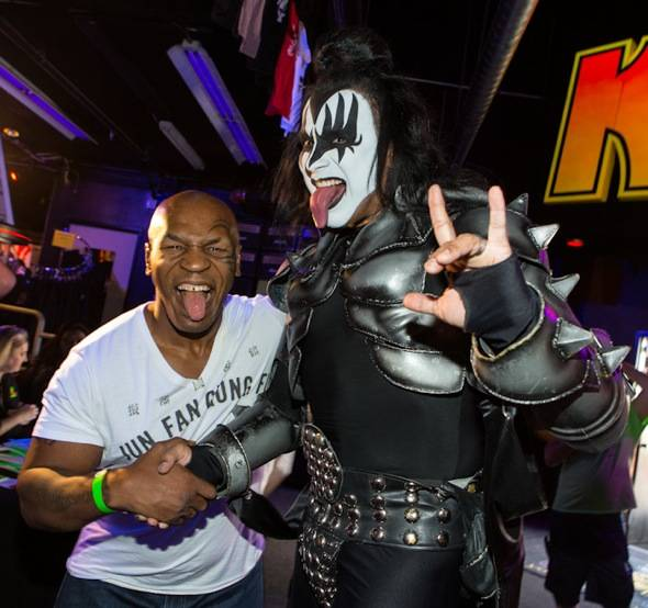 Mike Tyson and a Gene Simmons Impersonator