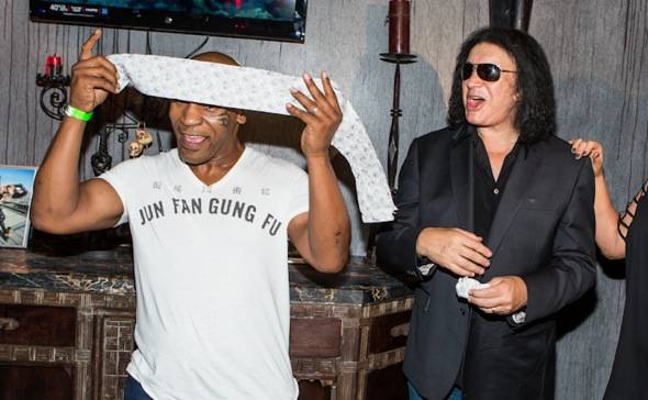 Mike Tyson and Gene Simmons