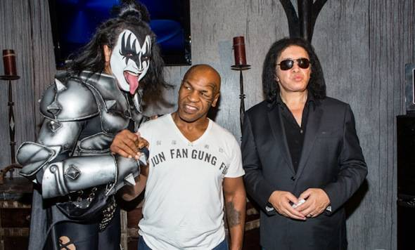 Gene Simmons Impersonator, Mike Tyson and Gene Simmons