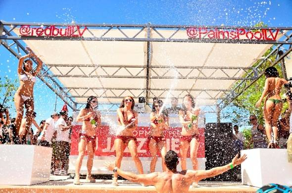 Champagne shower for DJ Jazzy Jeff at Ditch Fridays at Palms in Las Vegas 6.22.12