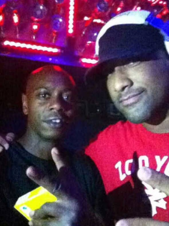 Dave Chappelle and Derrick Anthony at Hyde Bellagio, Las Vegas 6.26.12