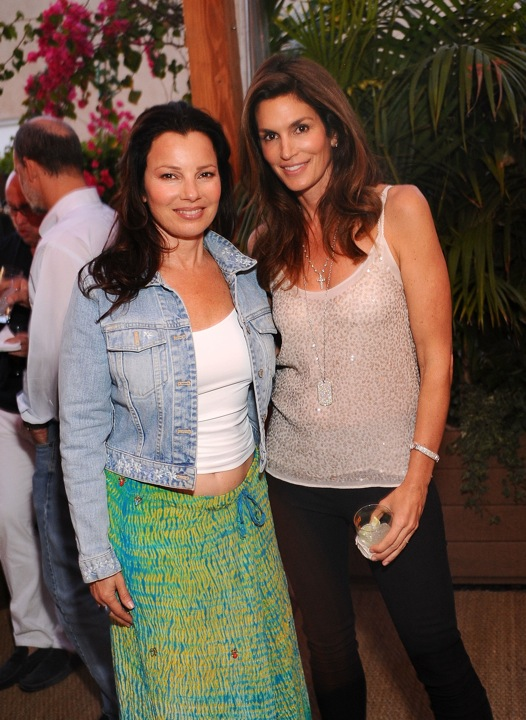 Fran Drescher and Cindy Crawford