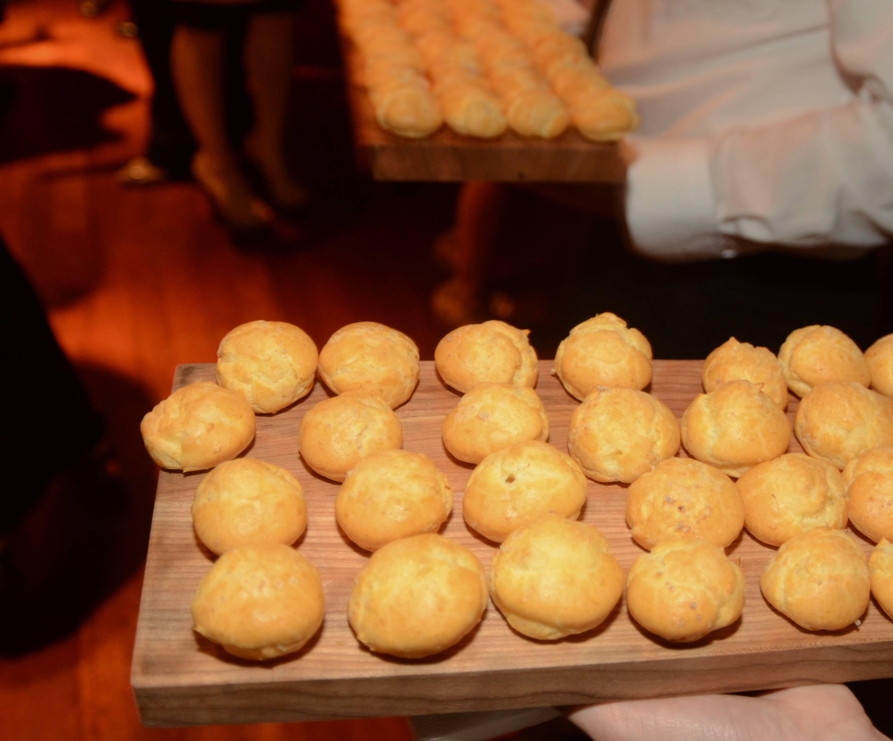 Gruyere Cheese Gougers Served at the U.S. Launch of Ultratravel Magazine