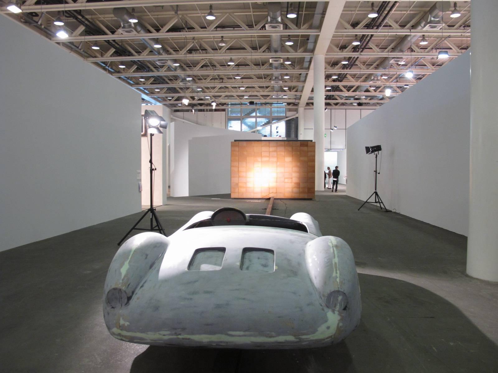 Michael Sailstorfer at Art Unlimited. Photo by Yanyan Huang