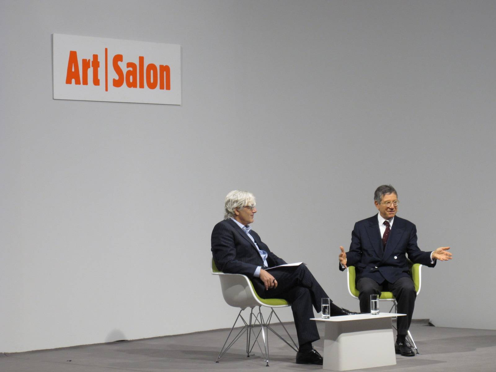 Jeffrey Deitch and Josh Baer at Art Basel 43