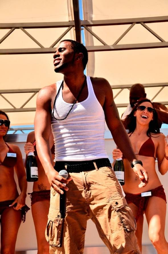 Jason Derulo enjoys Ditch Fridays pool party at Palms Casino Resort in Las Vegas 6.8.12