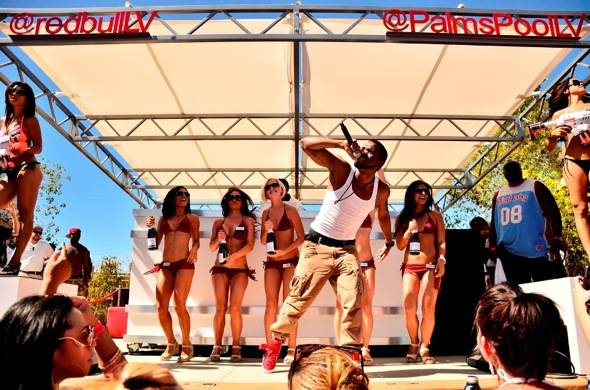 Jason Derulo performs at Ditch Fridays pool party at Palms Casino Resort in Las Vegas 6.8.12