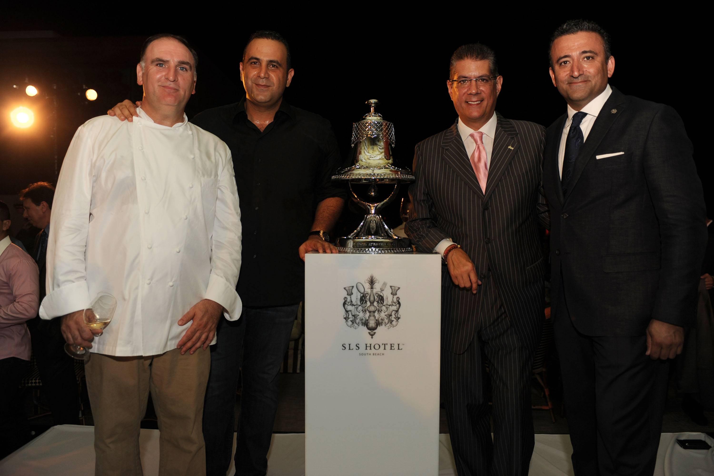 Jose Andres, Sam Nazarian, Albert Merts, & Arash Azarbarzin