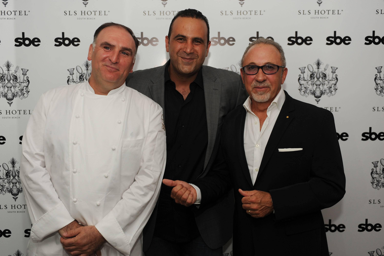 Jose Andres, Sam Nazarian, & Emilio Estefan