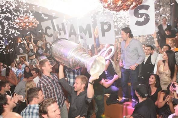 LA Kings and Stanley Cup at Hyde Bellagio, Las Vegas, 6.15.12