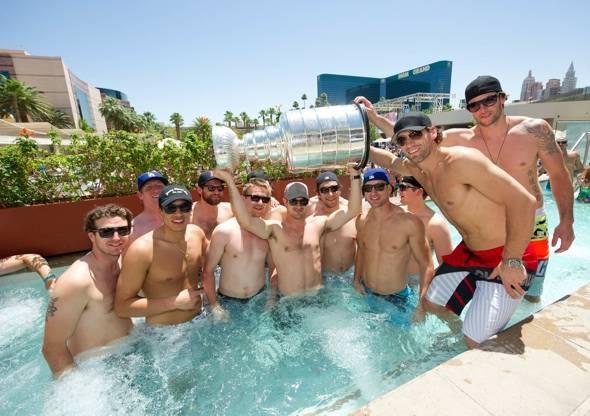 The LA Kings at Wet Republic.