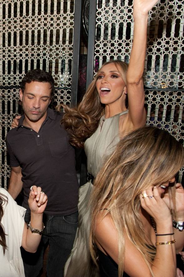 LAVO Giuliana Rancic and George Kotsiopolous