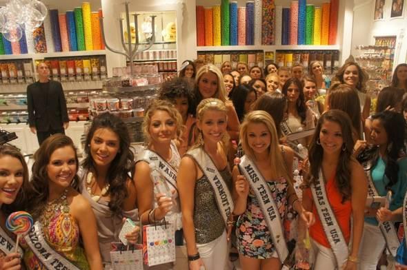 Miss Teen USA contestants at Sugar Factory