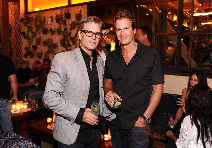 Rande Gerber and Harry Hamlin