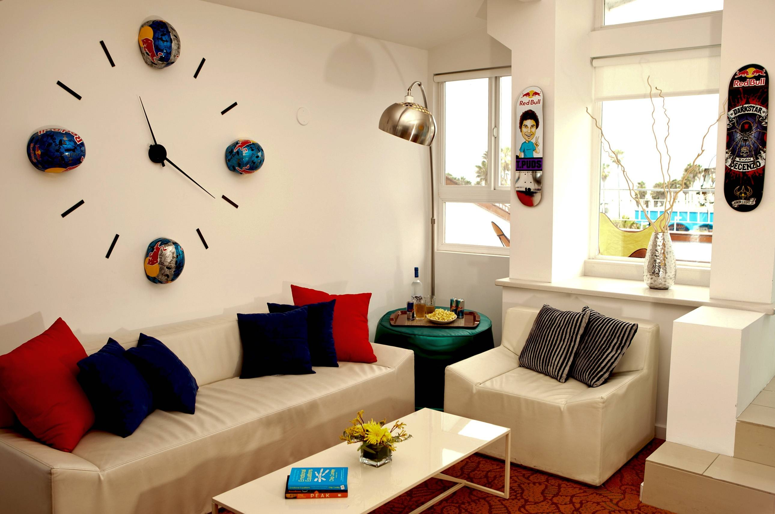 Red Bull Dogtown Suite Living Room area