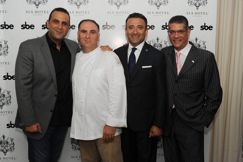 Sam Nazarian, Jose Andres, Arash Azarbarzin & Albert Mertz
